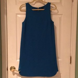 Royal Blue Straight Line Ann Taylor Dress